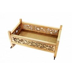 Игрушка деревянная «Кроватка – качалка для кукол»