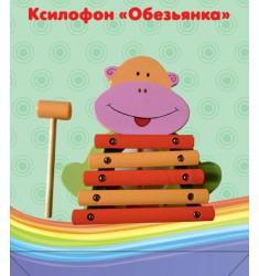 """Ксилофон """"Обезьянка"""" 5 тонов"""