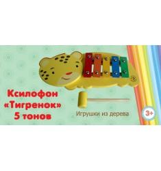 "Ксилофон ""Тигренок"" 5 тонов"