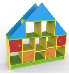 Стеллаж - дом детский игровой