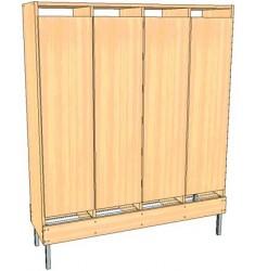 Шкаф для детской одежды 2-местный со съемными полками