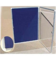 Доска пробковая (тканевая) с прозрачной дверцей и замком ДВ-11
