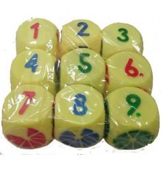 Набор кубиков (9 предметов), Игрушка из ПВХ пластизоля