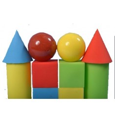 Набор геометрических фигур (12 предметов), Игрушка из ПВХ пластизоля