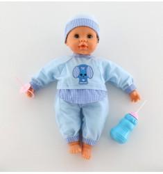 Кукла «Пупс»: озвученная, сосёт соску, пьёт из бутылочки (38 см)