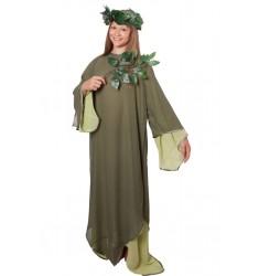 Карнавальный костюм для взрослых Кикимора (платье + венок)