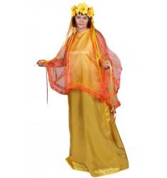 Карнавальный костюм для взрослых Осень (женский) платье + головной убор
