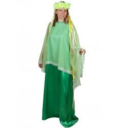 Карнавальный костюм для взрослых Весна (женский) платье + головной убор
