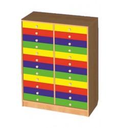Шкаф для индивидуальных вещей ребенка (24 ящика)