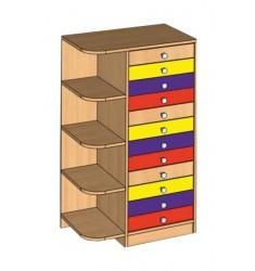 Шкаф комбинированный для индивидуальных вещей ребенка