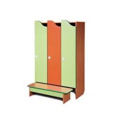 """Комплект мебели для детского гардероба трехместный """"Волна"""""""