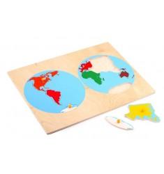 Карта континентов
