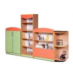 Набор шкафов для игровой комнаты цветной