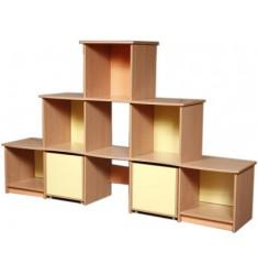 """Шкаф для игрового стройматериала """"Пирамида малая № 2"""""""