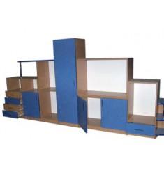 Шкаф комбинированный для игровой комнаты цветной ДШК-01
