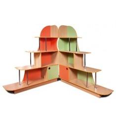 Шкаф-стеллаж цветной для игровой комнаты ДСШ-01