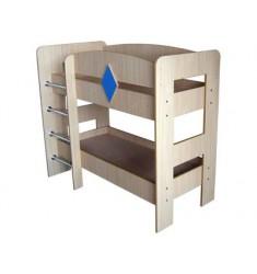 Кровать двухярусная КРД-06-02 с наматрацниками (1400*600)