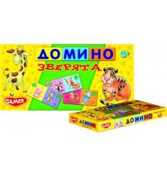 """Детская настольная игра """"домино Зверята"""""""