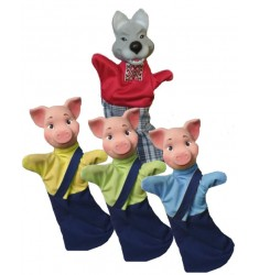 """Кукольный театр Бибабо """"Три поросенка"""" (Набор из 4 предметов)"""