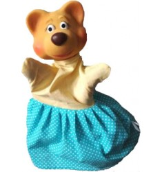 Кукла Бибабо Медведица, Игрушка из ПВХ