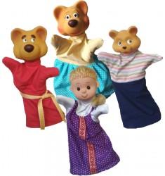 """Кукольный театр Бибабо """"Три медведя"""" (Набор из 4 предметов)"""
