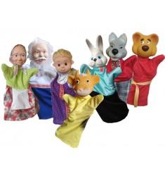 """Кукольный театр Бибабо """"Бычок смоляной бочок"""" (Набор из 7 предметов)"""