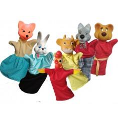 """Кукольный театр Бибабо """"Зайкина избушка"""" (Набор из 6 предметов)"""