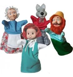 """Кукольный театр Бибабо """"Красная шапочка (Набр из 4 предметов)"""
