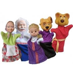 """Кукольный театр Бибабо """"Маша и медведь"""" (Набор из 5 предметов)"""