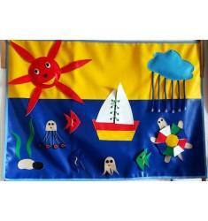 """Дидактическое панно """"Морской пейзаж"""" (игрушка развивающая)"""