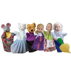 """Кукольный театр Бибабо """"Репка"""" (Набор из 7 предметов)"""