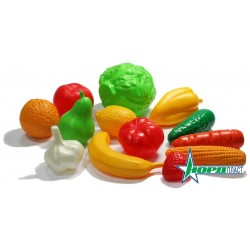 Набор Фрукты, Овощи (13 предметов в сетке)