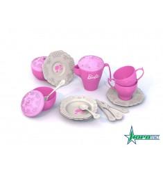 Набор чайной посудки БАРБИ (18 предметов в пакете)