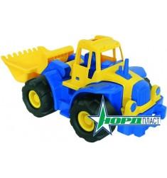 Трактор Богатырь с грейдером