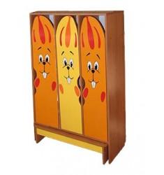 Комплект мебели для детского гардероба ДГСк-01-Зай трехместный