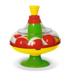 Юла с шарикам диаметр - 14 см