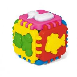 Логический кубик Веселые зверята