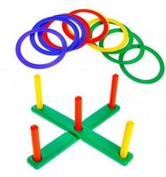 Напольная игра Кольцеброс со столбиками