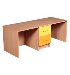 Стол детский двухместный с ящиками цветной (№ 1,2,3)