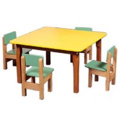 Стол детский четырехместный СтИД-04 цветной