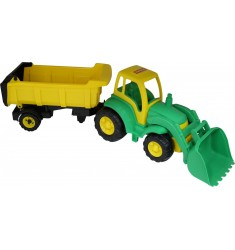 Чемпион, трактор с ковшом и полуприцепом (в сеточке)