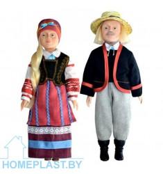 """Сувенирные куклы """"Беларусы"""" Домачевский строй (в индивидуальной упаковке)"""
