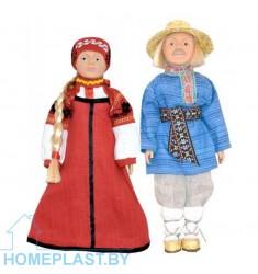"""Сувенирные куклы """"Беларусы"""" Россонский строй (в индивидуальной упаковке)"""