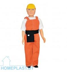 Кукла Дима-строитель (в упаковке туба)