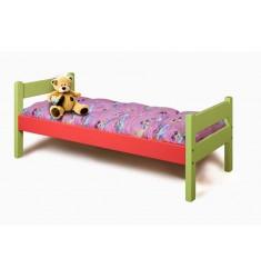 Кровать детская КРОД-02 цветная с матрацем