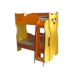 Кровать двухярусная КРД-07 (котята) с наматрацниками