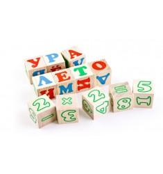 """Деревянные кубики """"Русский алфавит с цифрами"""""""